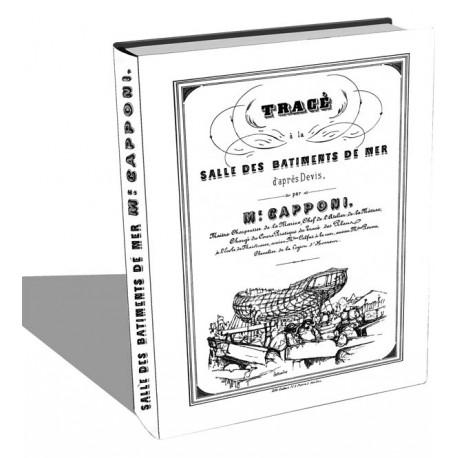 Tracé à la salle des bâtiments de mer de Capponi - 1850