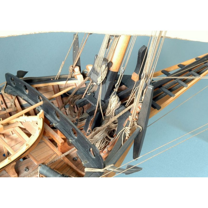 LE REQUIN - Xebec - 1750 - Ancre