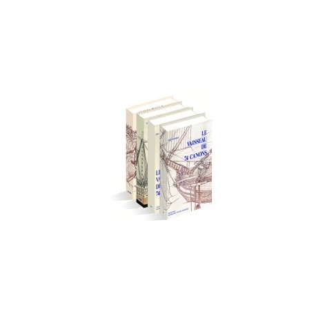 VAISSEAU DE 74 CANONS 1780 TRAITE PRATIQUE D'ART NAVAL 1780 En quatre volumes. Base de la collection