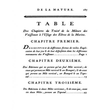 Traité Élémentaire de la Mâture des Vaisseaux - 1788